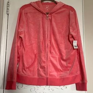 Peachy pink velour jacket